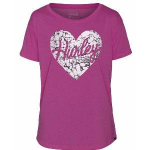 Hurley X Nike Dri-FIT 科技LOVE ME SHATTERED DRI-FIT TEE T恤 - 女 ( 亮洋紅 / 紫 )