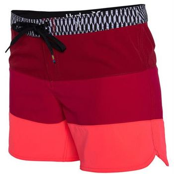 Hurley 女生Phantom海灘褲 - 漸層桃紅