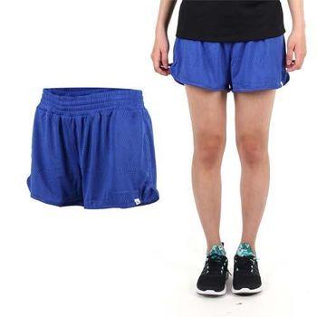 【PUMA】女網布運動短褲-慢跑 路跑 運動 休閒 藍