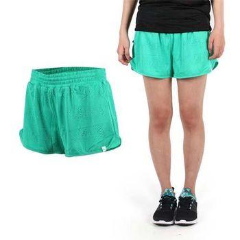 【PUMA】女網布運動短褲-慢跑 路跑 運動 休閒 綠