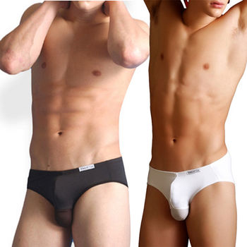 【King Style】運動A型男性囊袋向上三角內褲 PLA-355 黑 / 白 / 藍