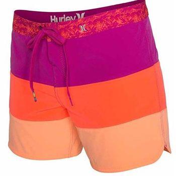 Hurley 幻影系列(超機能)PHANTOM 5 BEACHRIDER 海灘褲 - 女 ( 粉 / 橘 )