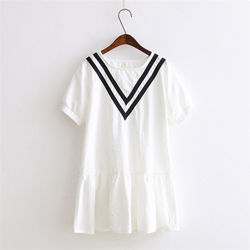 預購LOVE20東京館海軍風造型棉麻短袖上衣