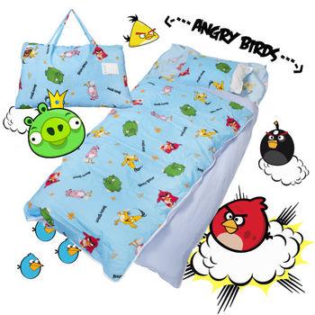 憤怒鳥 搗蛋轟炸 藍 兒童睡袋 標準