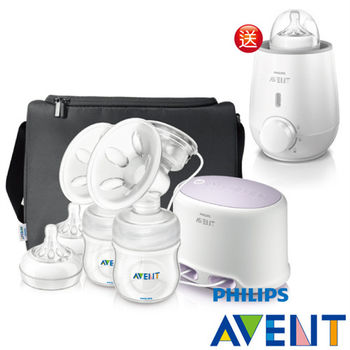 PHILIPS AVENT輕乳感PP專業型雙邊電動吸乳器-加贈快速食品加熱器