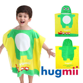 【hugmii】童趣造型兒童連帽浴袍_青蛙
