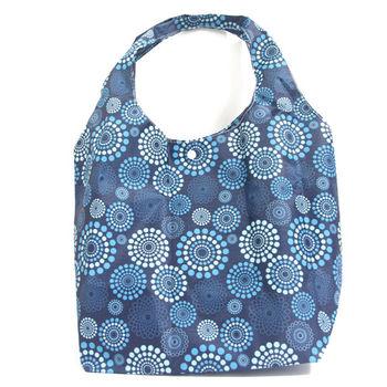【Zakka雜貨網】 繽紛花漾環保隨意袋-藍
