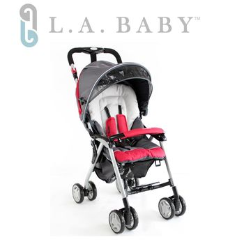 【美國 L.A. Baby】全罩式 秒收 手推車-典藏灰