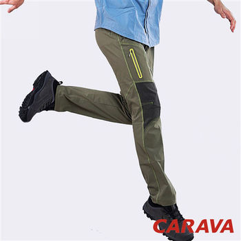 CARAVA《男款彈力登山攀岩褲》(灰橄綠)