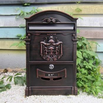 PUSH!居家生活用品 復古風個性化信箱郵箱郵筒報紙箱I52