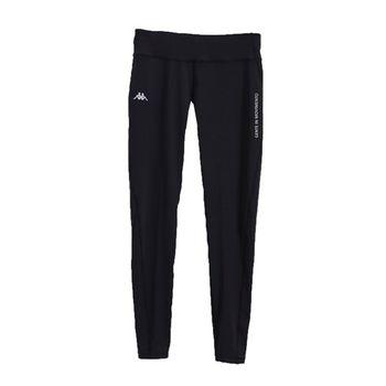 KAPPA義大利舒適時尚女慢跑緊身褲 (合身尺寸)1件 黑FD62-Y008-8