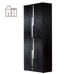 AT HOME艾克2.7尺黑色四門高鞋櫃