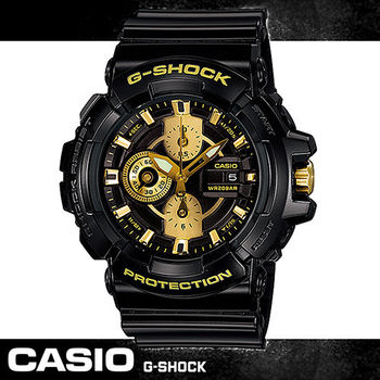 【CASIO 卡西歐 G-SHOCK 系列】重機金屬風設計運動腕錶(GAC-100BR)