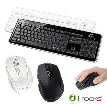 i-Rocks  RF6170S無線2.4GHz鍵盤滑鼠組(復刻板)