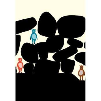 【摩達客】西班牙知名插畫家Judy Kaufmann藝術創作海報掛畫裝飾畫-與朋友渡假 (附Judy本人簽名)(含木框)