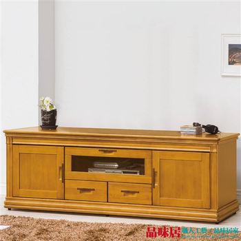 【品味居】凱納 檜木紋6尺實木收納櫃/電視櫃(二抽屜+三門櫃設計)