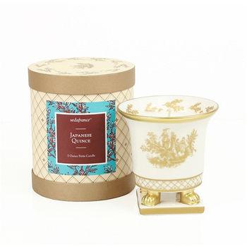 法國賽達高級香水蠟燭5oz.陶瓷精雕杯蠟 - 日本甜桃