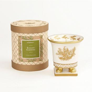 法國賽達高級香水蠟燭5oz.陶瓷精雕杯蠟 - 優雅花園
