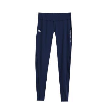 KAPPA義大利舒適時尚女慢跑緊身褲(合身尺寸)1件 丈青FD62-Y008-3