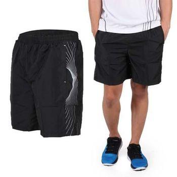 【SOFO】男運動短褲-慢跑 路跑 運動 休閒 黑灰  鬆緊腰帶附拉繩