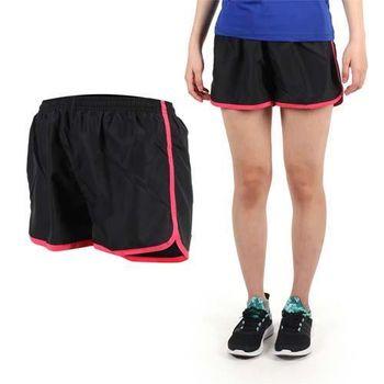 【SOFO】女運動短褲-慢跑 路跑 運動 休閒 黑粉  鬆緊腰帶附拉繩