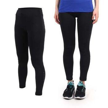 【SOFO】女九分韻律褲-內搭褲 長褲 瑜珈 慢跑 路跑 運動 休閒 黑  彈性腰帶附拉繩