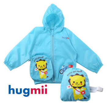 【hugmii】兒童可收納式防風防水防曬外套_獅子
