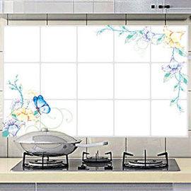 窩自在★廚房清潔高檔鋁箔防油貼紙防油牆貼-雍容愜意
