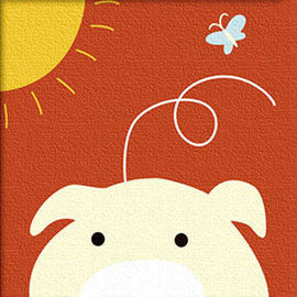 窩自在★兒童DIY創意油畫 動物系列(小豬)