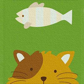 窩自在★兒童DIY創意油畫 動物系列(貓咪)