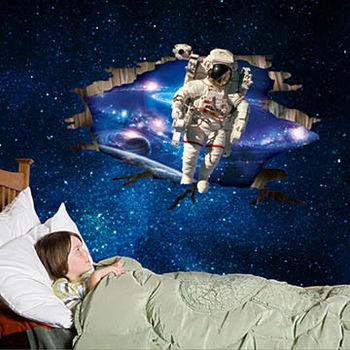 窩自在★DIY無痕創意牆貼/壁貼-3D太空人_AY9264