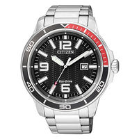 CITIZEN 星辰 光動能大數字男用 腕錶~45mm AW1520~51E