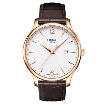 TISSOT T-TRADITION 復古簡約大三針時尚腕錶-42mm/T0636103603700