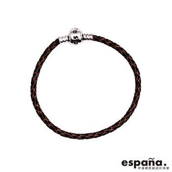 ESPANA伊潘娜 925純銀/皮革手鍊-咖啡