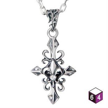 64DESIGN 十字架項鍊 Iris十字花藤 純銀項鍊