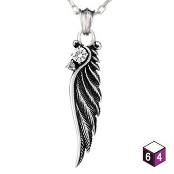 64DESIGN項鍊 羽毛項鍊 羽獵 純銀項鍊