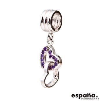 ESPANA伊潘娜 永結同心純銀串珠-紫