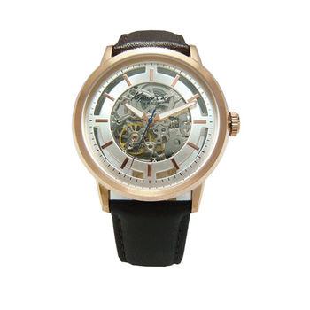 Kenneth Cole 開拓視野界限時尚鏤空機械腕錶-玫瑰金框-KC10026783