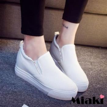 【Miaki】休閒鞋潮流限定厚底包鞋懶人鞋 (黑色 / 白色)