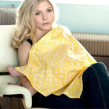 美國Mothers Lounge美型哺乳巾-溫暖鵝黃