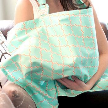 美國Mothers Lounge美型哺乳巾-芽綠薄荷
