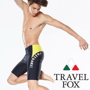 【TRAVELFOX 旅狐】大男流線型七分泳褲(C14902)