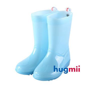 【hugmii】單色夜光兒童雨鞋_夜光藍