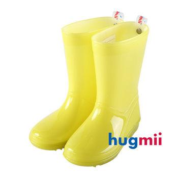 【hugmii】單色夜光兒童雨鞋_夜光黃