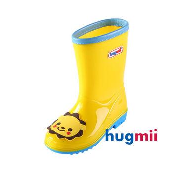 【hugmii】可愛貼片造型兒童雨鞋_黃色獅子