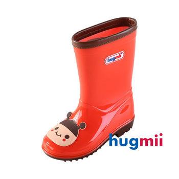 【hugmii】可愛貼片造型兒童雨鞋_紅色瓢蟲