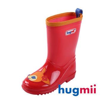 【hugmii】可愛貼片造型兒童雨鞋_紅小鹿