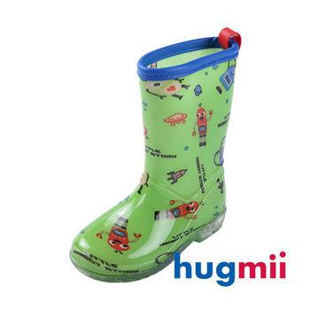 【hugmii】高邦滿圖童趣造型兒童雨鞋_綠機器人