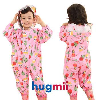 【hugmii】滿圖童趣造型連身兒童雨衣_公主