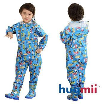 【hugmii】滿圖童趣造型連身兒童雨衣_車車